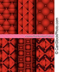Crimson Red Seamless Pattern