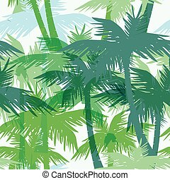 Tropical summer seamless print with palm. - Tropical summer...