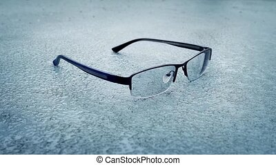 Accident - Glasses Dropped And Stepped On - Pair of glasses...