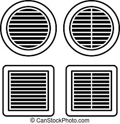 ventilation grille black symbol - illustration for the web