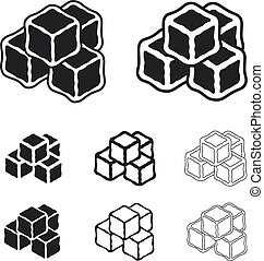 ice cube black symbols - illustration for the web