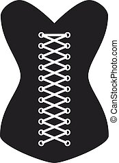 women corset silhouette - illustration for the web