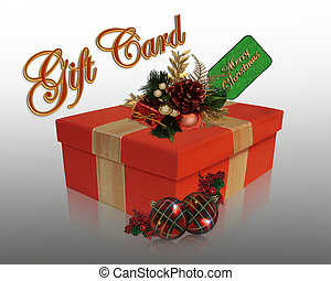Christmas present gift card - Image and illustration...