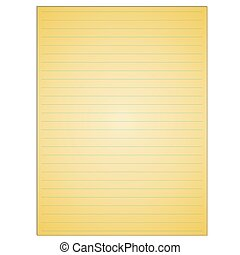 Yellow lined paper with holes