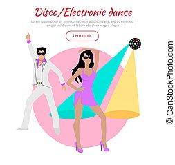 baile,  conceptual, bandera, electrónico,  disco