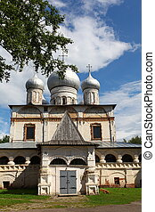 views of the church Our lady in Veliky Novgorod - Russian...