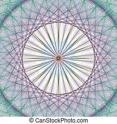 Colorful vector fractal background design