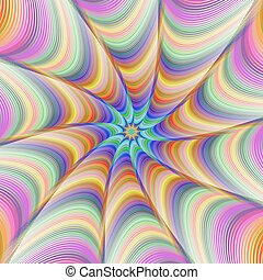 Colorful fractal digital art background design