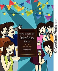 funny party invitation to friends