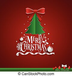 Christmas Greeting Card. Merry Christmas lettering with...