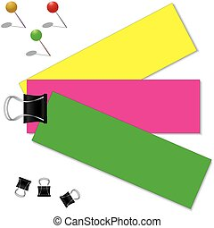Colorful paper with clip