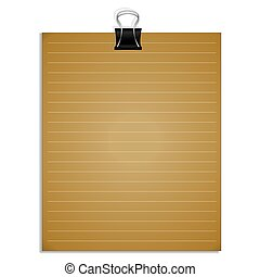 Vector  note papers with paper clip