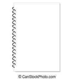 blank realistic spiral notepad notebook isolated on white...