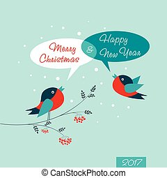 Merry Christmas Card. Happy New Year.