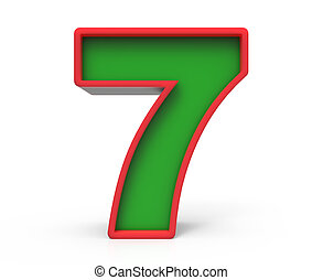 3d Christmas number 7