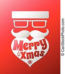 Santa claus with beard vector illustration .Christmas...
