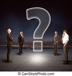 Team with a big question to be solved - Team of...