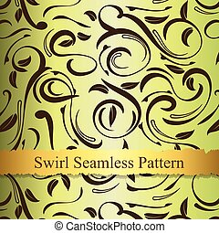 Vector swirl seamless pattern