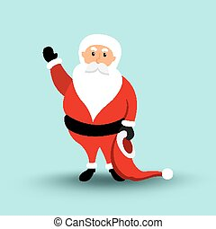 Cartoon Santa Claus Merry Christmas and Happy New Year....