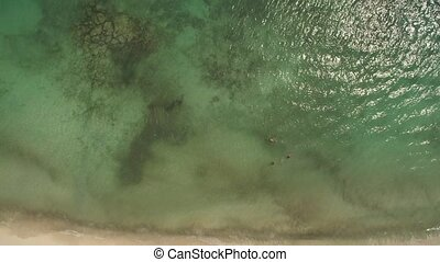 aerial view of beach - Top view aerial photo from flying...