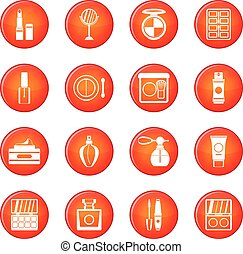 Cosmetics icons vector set