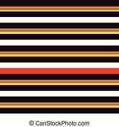 Striped seamless pattern, black, white, yellow, red stripe