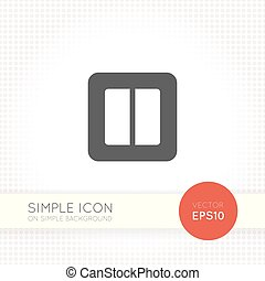 Power switch icon isolated on simple background - Power or...