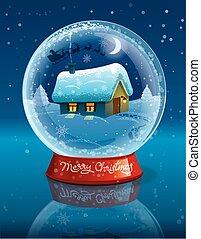 christmas crystal ball