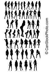 woman silhouettes - 57 woman silhouettes