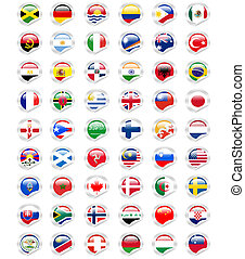 sticker flags - flags around the world