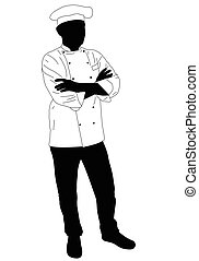 cook chef confidently posing