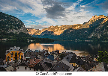 A small town in the Alps , Hallstatt