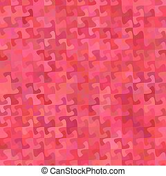 Red abstract puzzle pattern background design