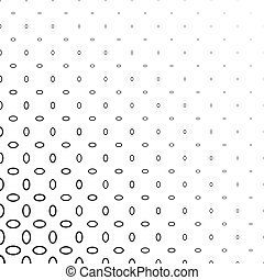 Black and white ellipse ring pattern background