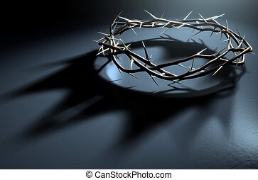 Crown Of Thorns With Royal Shadow - A 3D render concept of...
