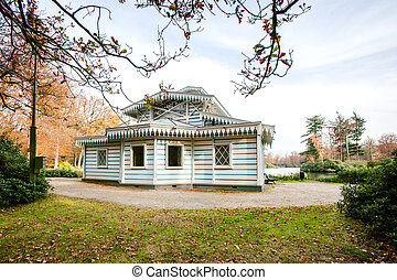 Architectural tea house-which was used by three generations...