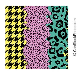 abstract seamless pattern with different ornaments, pop art...