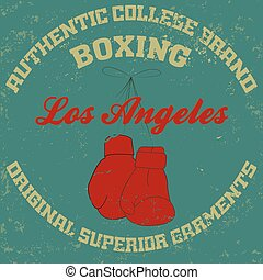 los angeles - Los Angeles typography fashion boxing t-shirt...