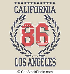 los angeles typography fashion, t-shirt graphics