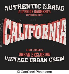 los angeles typography fashion, t-shirt graphics - vector
