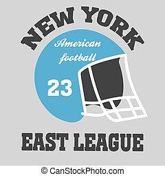 football t-shirt ny - vector