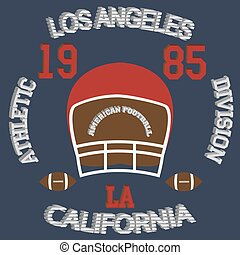 los angeles - Los Angeles typography football american...