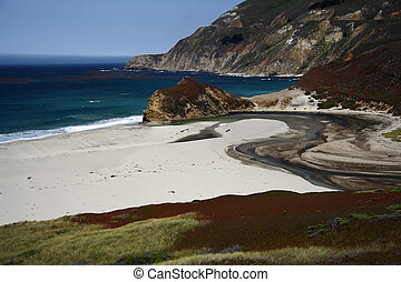 Big Sur Beach - Beach along the Pacific Coast in Central...