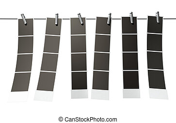 Hanging Instant Photograph Gallery - A 3D render of a...