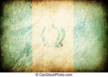Grunge rubbed flag series of backgrounds. Guatemala.