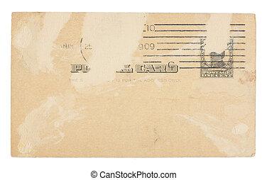 Vintage Torn United States Once Cent Postcard