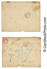 Front and Back of Old Zurich Envelope