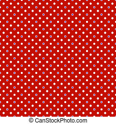 Polka dot on colorful background