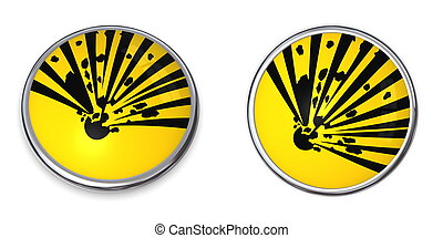Button Explosive Material - button with yellow explosive...