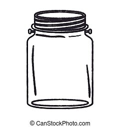 Isolated mason jar design - Mason jar icon. Retro vintage...